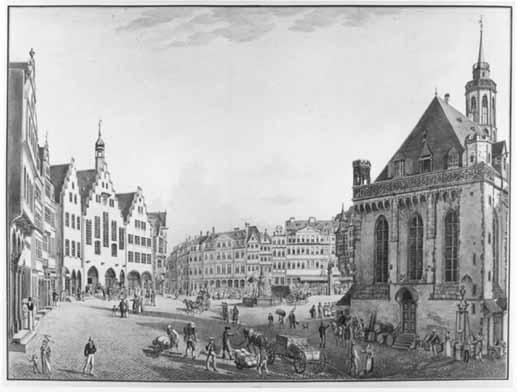 Römer und Alte Nikolaikirche, 1822 / Klicken: Vergrößerung