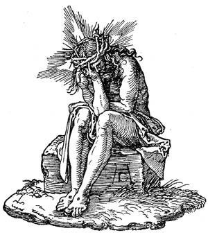 Bild 1: Sinnender Jesus
