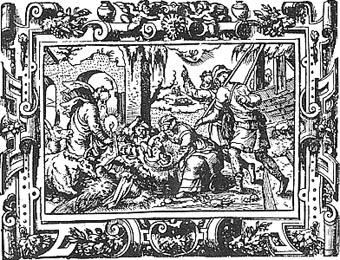 Hirten an der Krippe, 1569